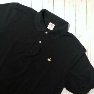 BROOKS BROTHERS Men's Performance Polo Pique Black